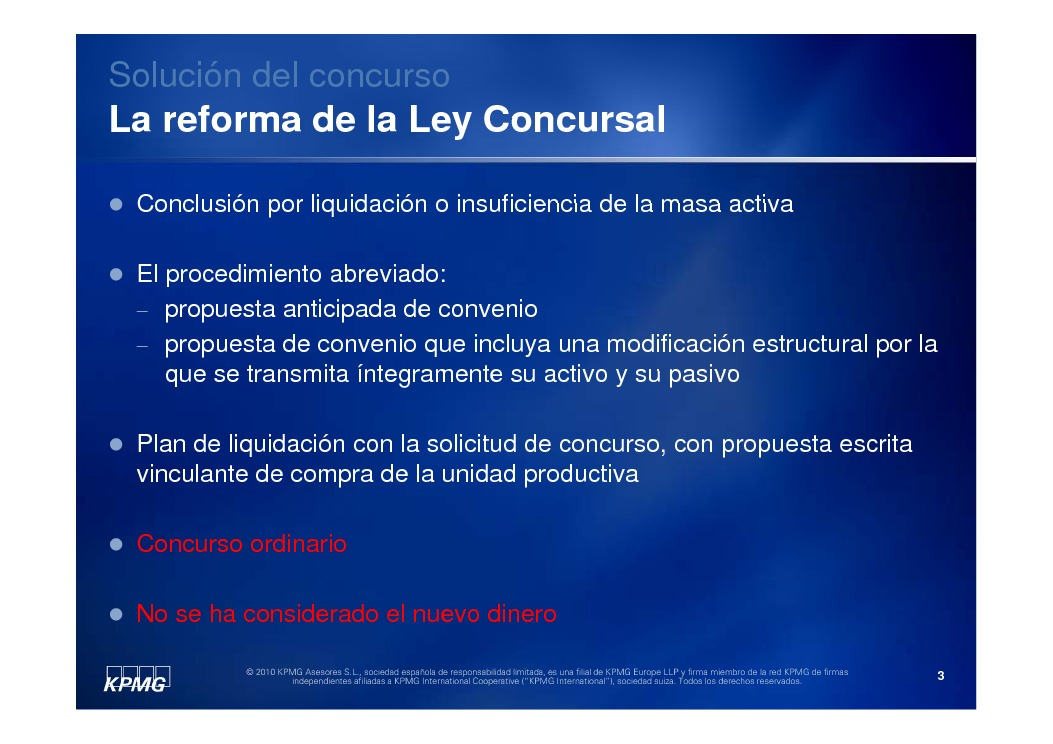 Presentación Angel Martín Torres, Economista. Socio directore responsable de Reestructuring de KPMG Asesores